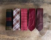 RESERVED - 5 Vintage Men's Ties in Assorted Styles