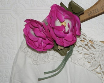 Vintage pink millinery flower