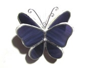 Iris Wings - 3D Stained Glass Butterfly Twirl - Mini Purple Hanging Suncatcher Home Garden Decor Christmas Ornament (READY TO SHIP)