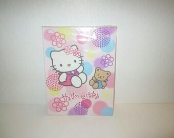Hello Kitty Folder - Sanrio - Pastel Pink School Folder - New Old Stock in Original Packaging - Kitty with Bear