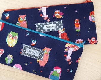 Zip bag - owl