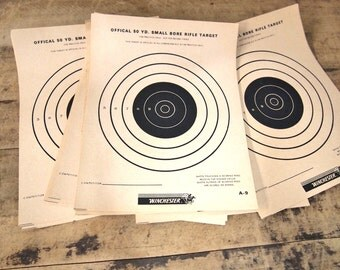 Free Shipping Vintage Winchester Small Bore Rifle Target s 20 , you get all