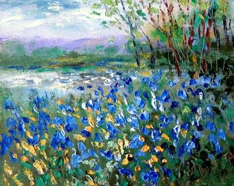Blue Bonnet Pond    - New 2015 print