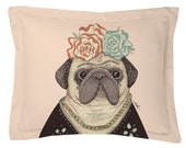 Frida Pug-lo // Pillow Cover // Pillow Case // Made in USA