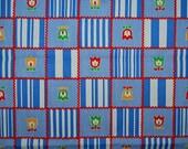 VINTAGE RETRO Boho folk art fabric tulip denim weight