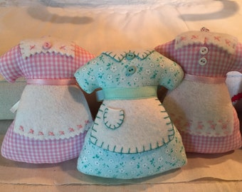 Sunday Best Apron Ornaments Or Pin Cushions - Inspired By The Movie - The Help - 9.95 Dollars for One