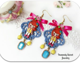 Retro Girl Earrings