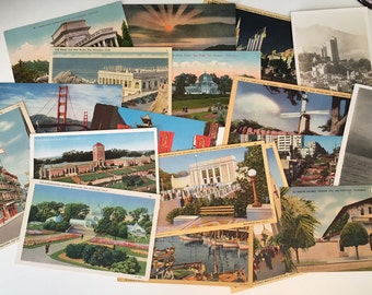 18 Vintage Postcards of San Francisco - All Blank on the Back - Use for Guest Book, Invites