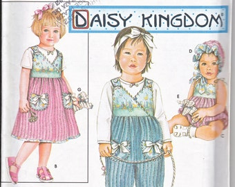 Simplicity 9168 Baby Girl Daisy Kingdom Jumpsuit Bonnet Romper Stuffed Animal Toy Sewing Pattern Sizes XS-L Out of Print UNCUT