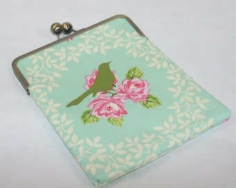 iPad Air cover, iPad Air 2 Case Cover, iPad Air Case, Gift for Her, iPad 4 Case Cover, Christmas Gift - Roses and Bird