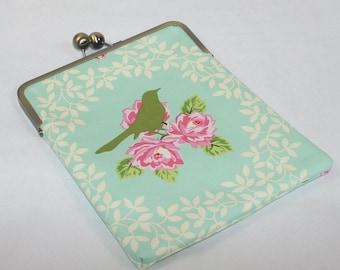 iPad Pro 9.7 Case, iPad Air cover, iPad Air 2 Case Cover, iPad Air Case, Gift for Her, iPad 4 Case Cover, Christmas Gift - Roses and Bird