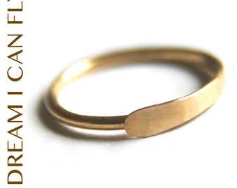 13mm 20g 22K Gold Conch Piercing Hoop / Hammered Hoops - 13mm Hoop Earrings / Conch Ring in 20 gauge solid 22K yellow gold