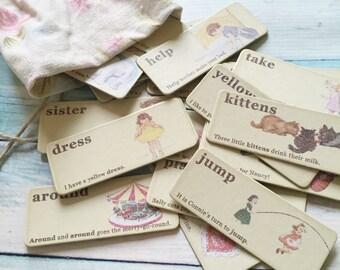 Vintage Inspired Flashcards - Girl or Boy