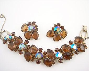 SALE Vintage Juliana Rhinestone Bracelet Set