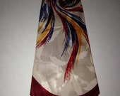 Vintage Towncraft Delux silk red blue yellow white retro wild costume classy