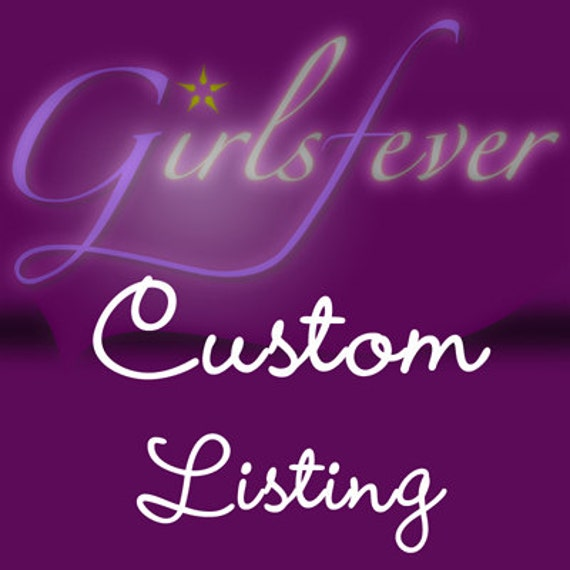 Custom listing for Ana P.