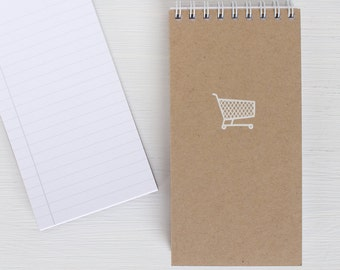 set of 3 kraft pressed mini reporter notebook - SHOPPING CART