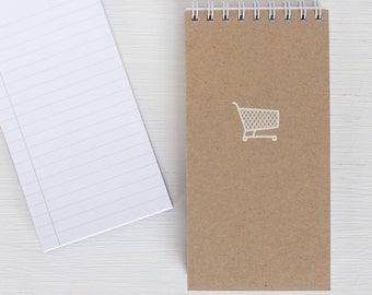 kraft pressed mini reporter notebook - SHOPPING CART