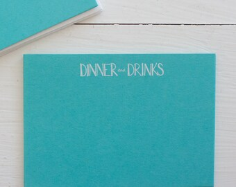 pressed flat notecards - DINNER & DRINKS