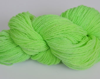 Home Grown Kid Mohair and Merino 2 ply Kelly Green 15-12-1 and 15-12-2