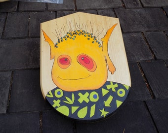 Troll Power! Toy Wooden Shield