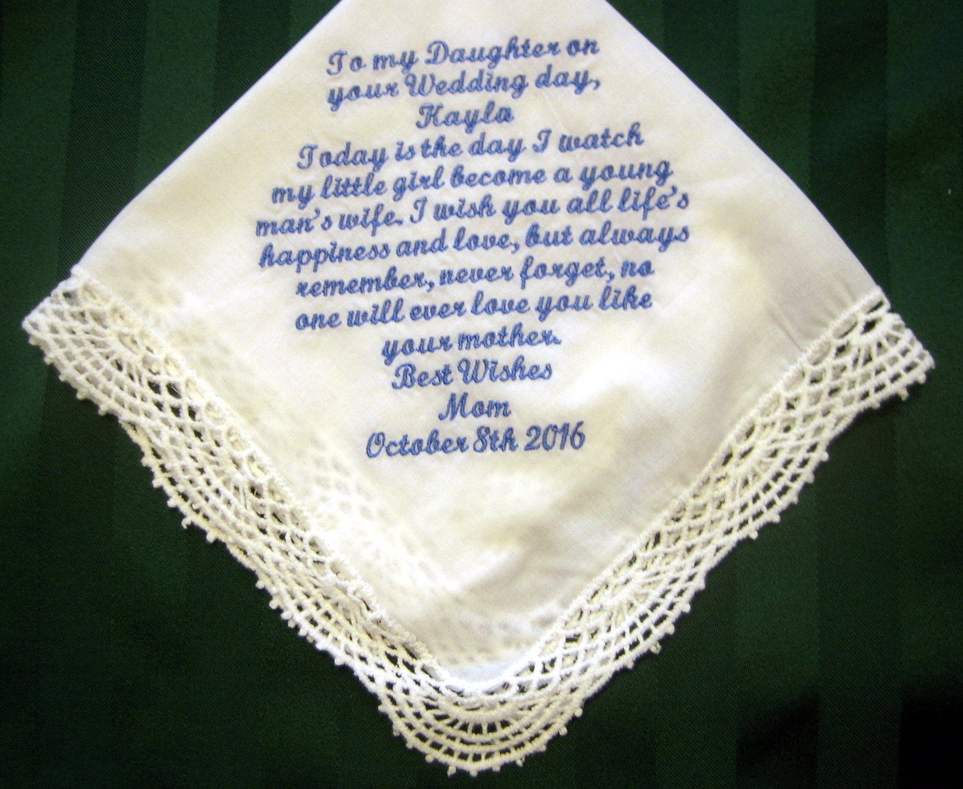 Bridal Handkerchief From Mother To DaughterSomething