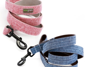 Linen Dog Leash - 4', 5' or 6' - 6 colors to choose from