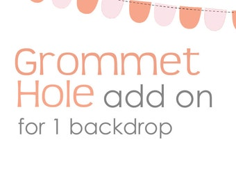 Grommet Holes Add On for ONE Backdrop Only