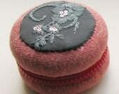 Large Macaron Pouch, Macaron Coin Purse, Macaron Zipper Pouch, Wedding Ring Box, Ring box, Macaroon box