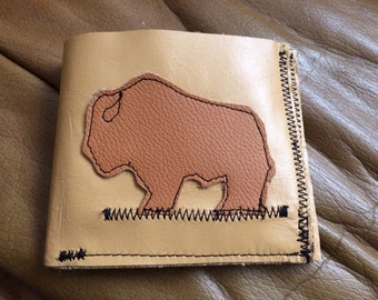 mighty buffalo all leather wallet- always free shipping to continental USA!