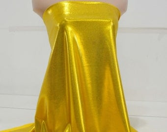 Mystique Spandex Yellow/Chartreuse  . dance skate gymnastics twirl  pageant  BTY