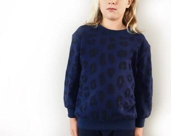 Leopard print sweatshirt, kids sweat shirt, baby toddler sweatshirt, boy girl sweater