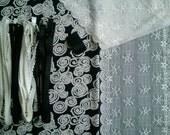 DIY Fabric and notions Black & Ivory Swirls for 1 BRA and BRIEF by Merckwaerdigh