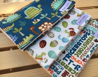 Dinosaur Baby Gifts / Baby Burp Cloths