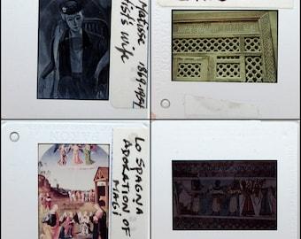 50 Art History Slides - Assorted Educational 35mm Slides - Plastic Frames - Vintage Photo Slides - Art Slides