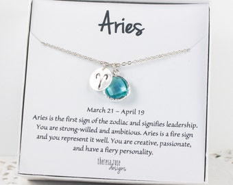 Aries Zodiac Silver Necklace, Aries March Necklace, March Birthday Jewelry, Zodiac Necklace, Astrology Silver Necklace