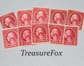 Pack of 10 .. Vintage Unused US Postage Stamp .. 2c George Washington stamp of 1926. Stamp collecting, pen pals and calligraphy gifts.