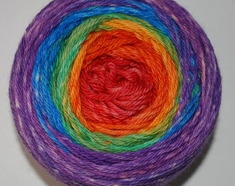 Over the Rainbow Panoramic Gradient, 100g Greatest of Ease, dyed to order