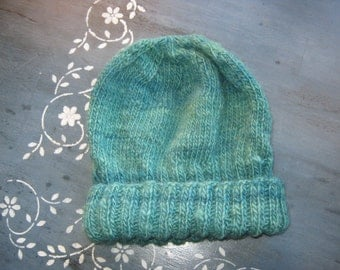 Handspun Hat, Hand Knitted Hat, Winter Hat, Warm Hat