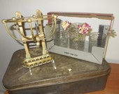 Victorian Brass Soap and sponge holder Wall Mount