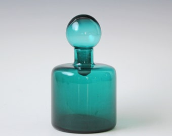 Vintage blue green apothecary bottle