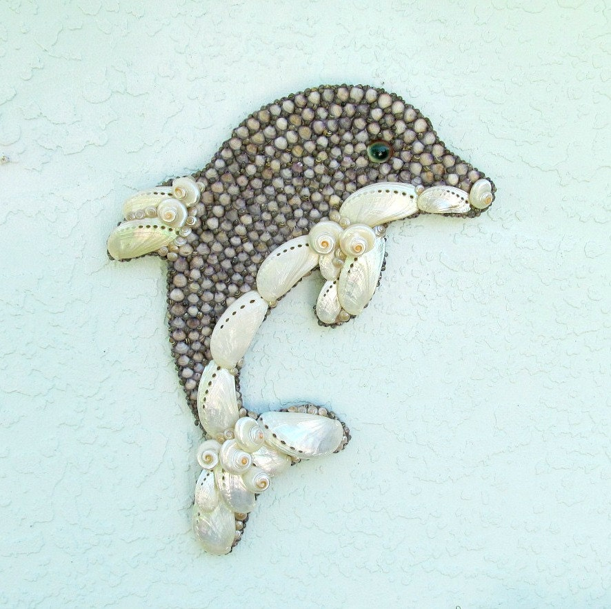dolphin wall art seashell wall hanging dolphin wall. Black Bedroom Furniture Sets. Home Design Ideas