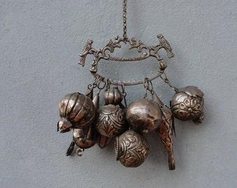 Antique Brazilian Penca de Balangandan Charm Slave charms, Protection and Luck decor early 1800's