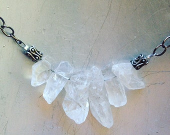 Bohemian Ice Summer Crystal Quartz Necklace
