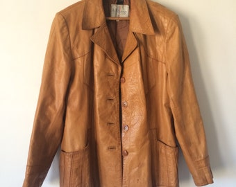 Vintage 1970s Wilson's House of Suede and Leather Jacket Supple and Boho Chic!