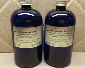 32 oz Herbal WITCH HAZEL TONER Distillate Hamamelis virginiana Pure All Natural Astringent Alcohol Free Wholesale Bulk
