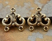 2 Nunn Design Antique Gold Filigree Strand Reducer  2 Loop, Connectors, Chandeliers, Low Shipping