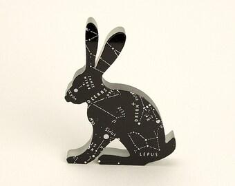 Constellation Glass Hare Sculpture Lepus Stars