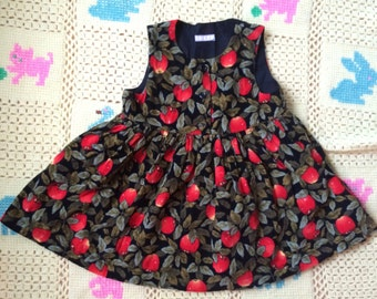 Corduroy Apple Dress 12/18 Months