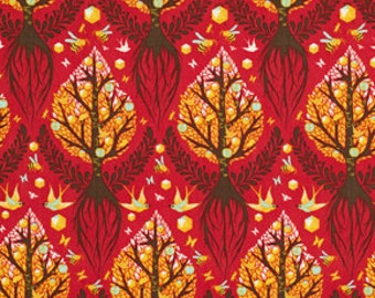 Tula Pink Birds and Bees Tree of Life in Cinnamon - pwtp025-cinna cotton designer quilt fabric FAT QUARTER FQ  or Custom Listing